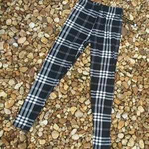 Plaid Leggings One Size Fits All